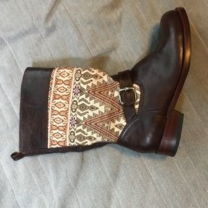 Shoes - Hand made leather Aztec boots